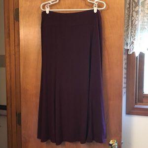Pretty long plum skirt from Lane Bryant